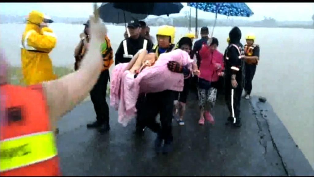 台灣持續暴雨 造成兩死五傷