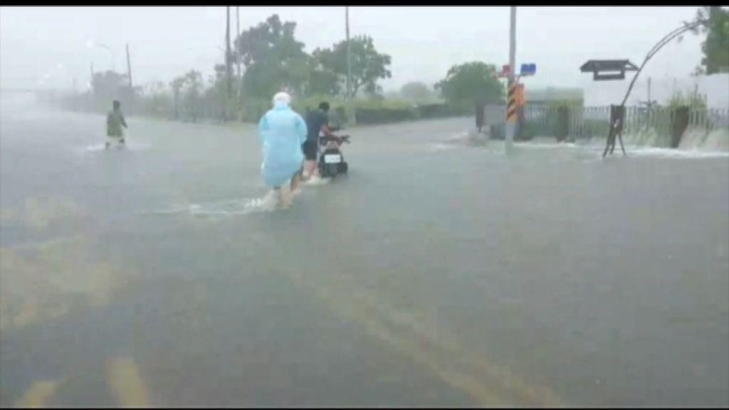 受兩氣流影響 台東多處暴雨