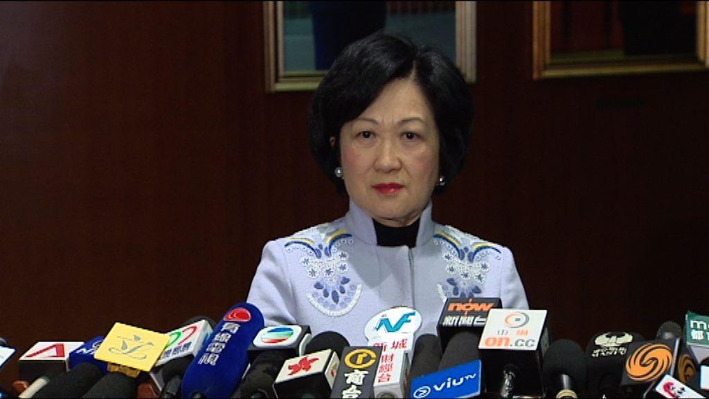 葉劉淑儀:若以盜竊案審訊 境外罪行不能作加刑理由