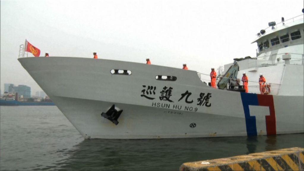 台灣海巡署船艦往沖之鳥巡護三個月
