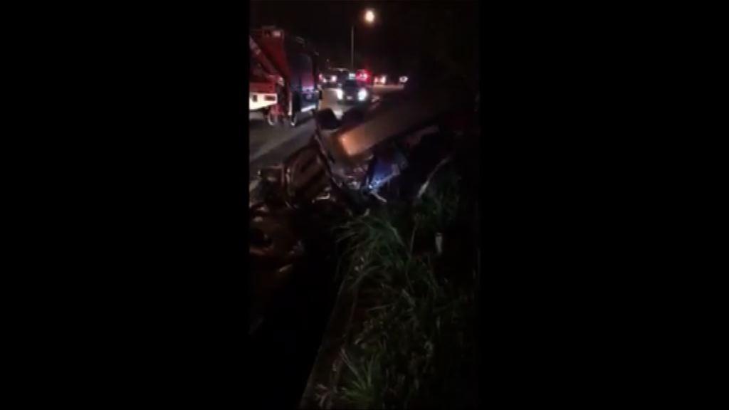 台灣蘇花公路嚴重車禍四死三傷