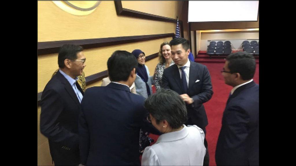 美國副助理國務卿訪問台灣三天
