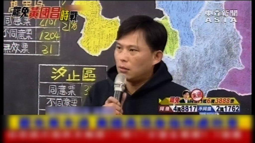 黃國昌成功保住立委席位