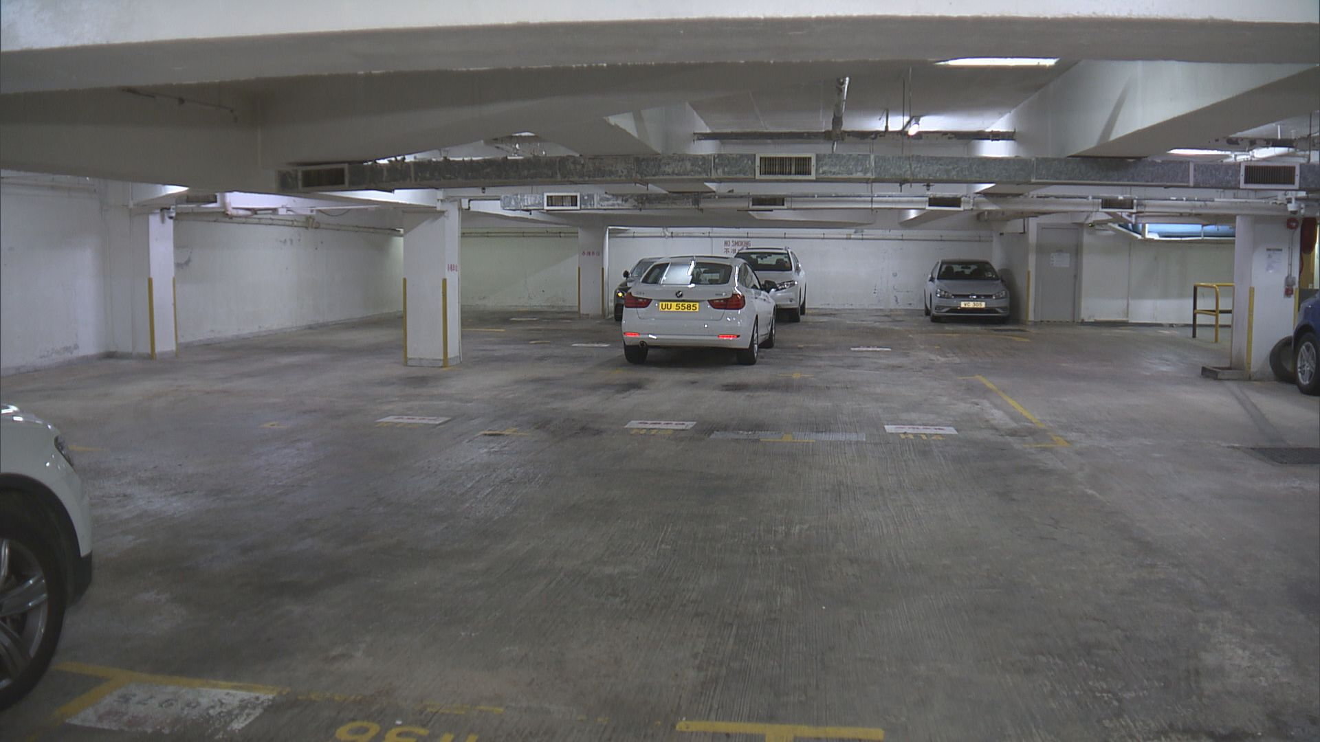 杏花邨地下停車場加裝感應器偵測水位