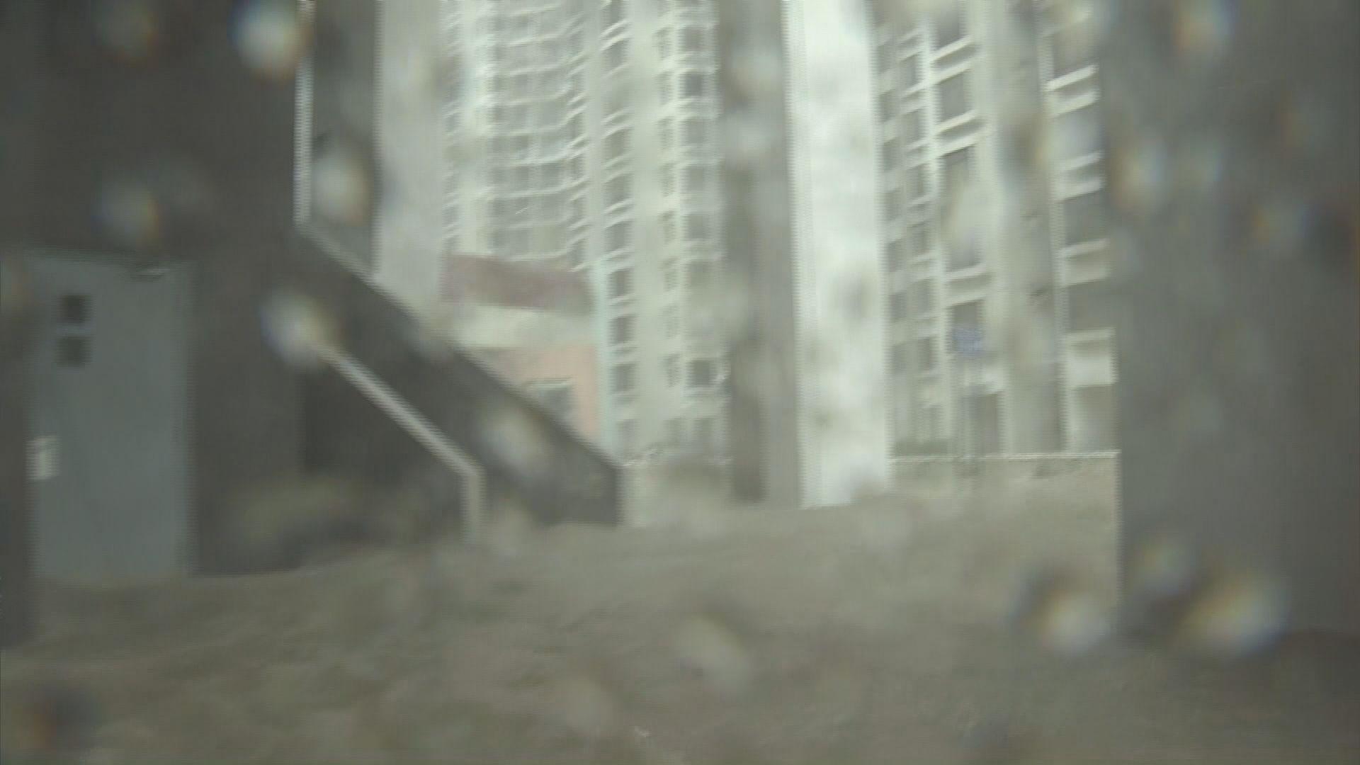 海水倒灌 杏花邨嚴重水浸成孤島