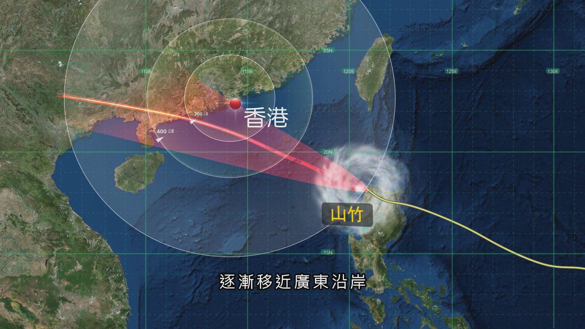 天文台:山竹維持超強颱風強度