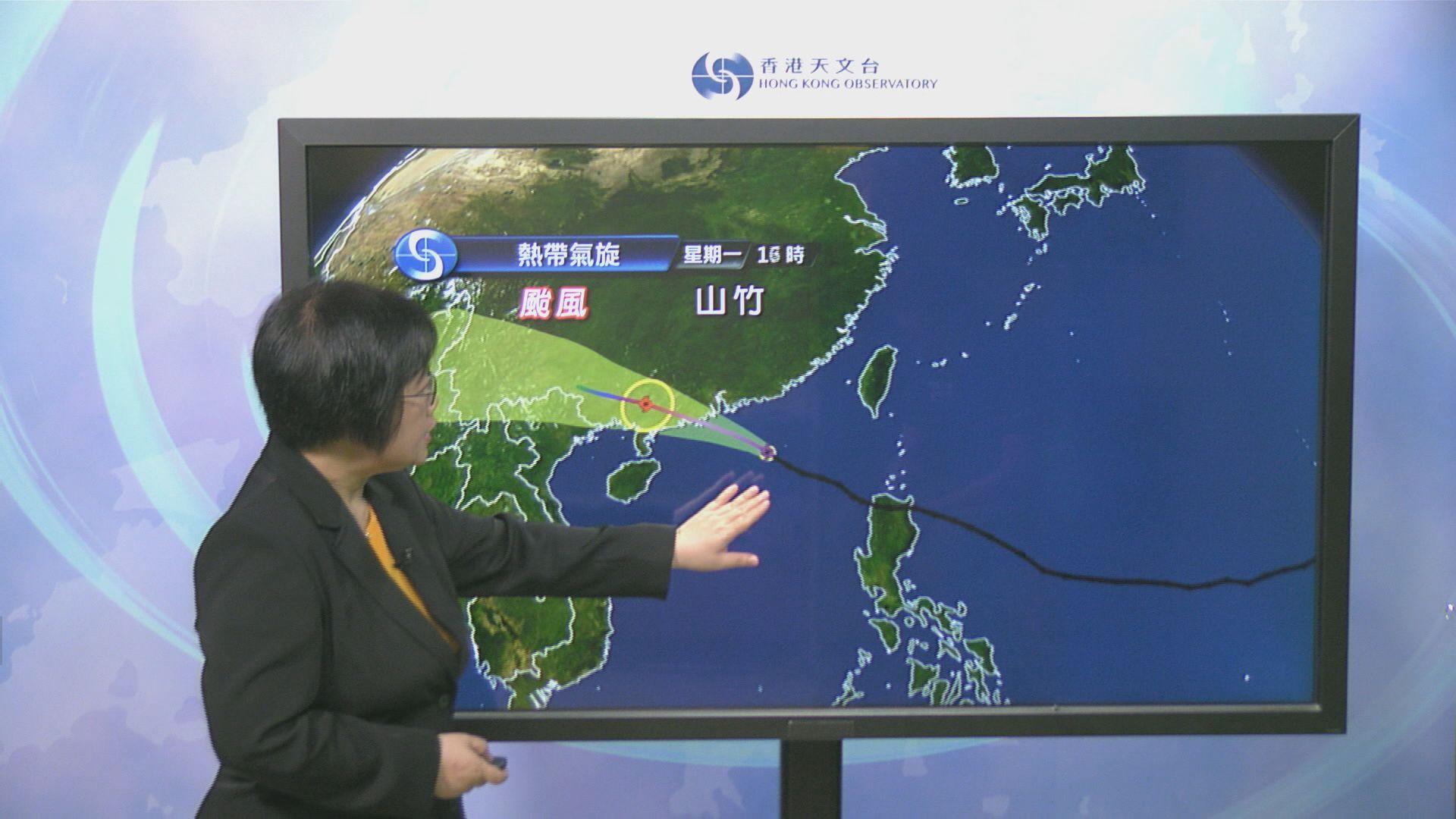 天文台考慮未來幾小時改發更高颱風警告信號