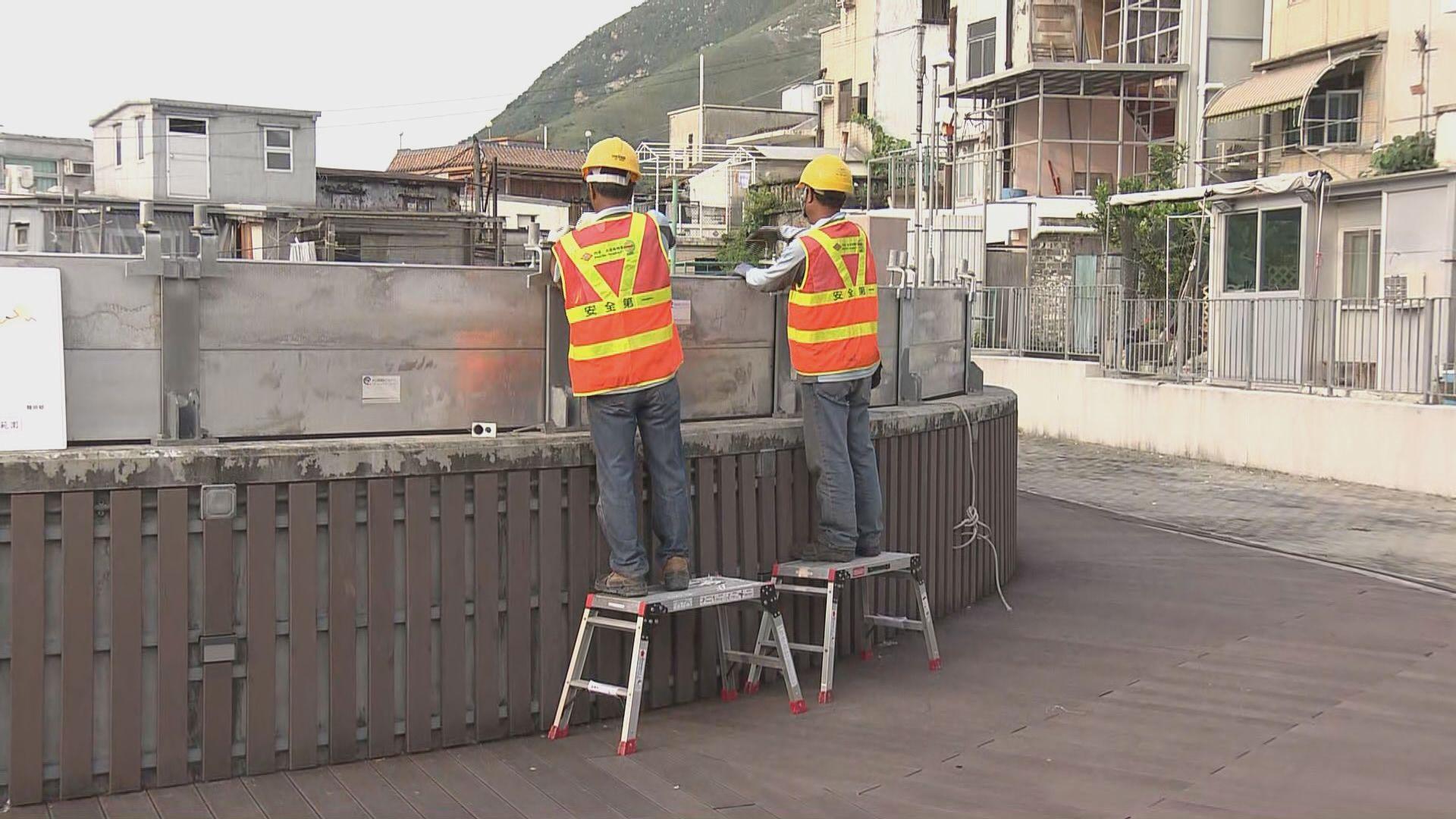 渠務署:已在颱風水浸黑點安裝擋水板