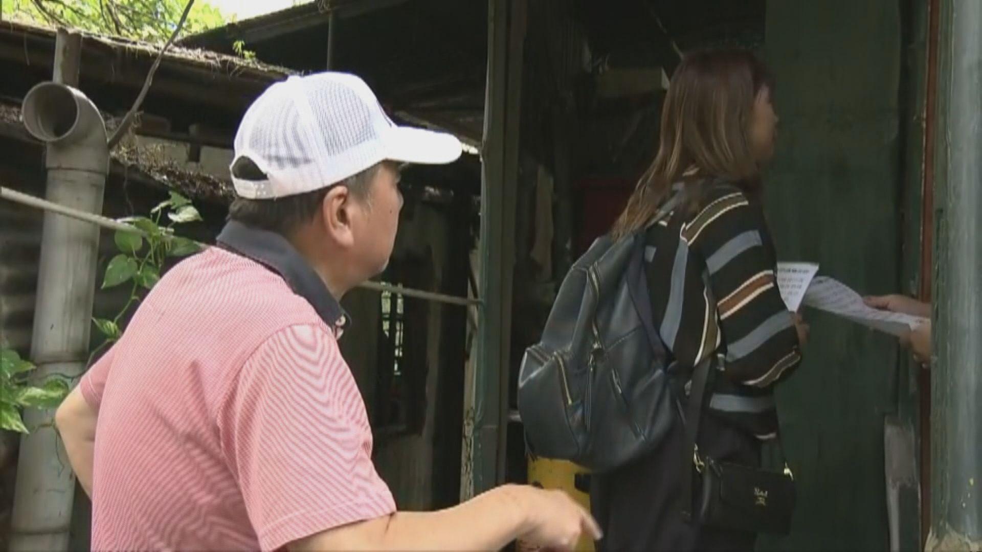 政府安排接載低窪地區居民巴士反應淡