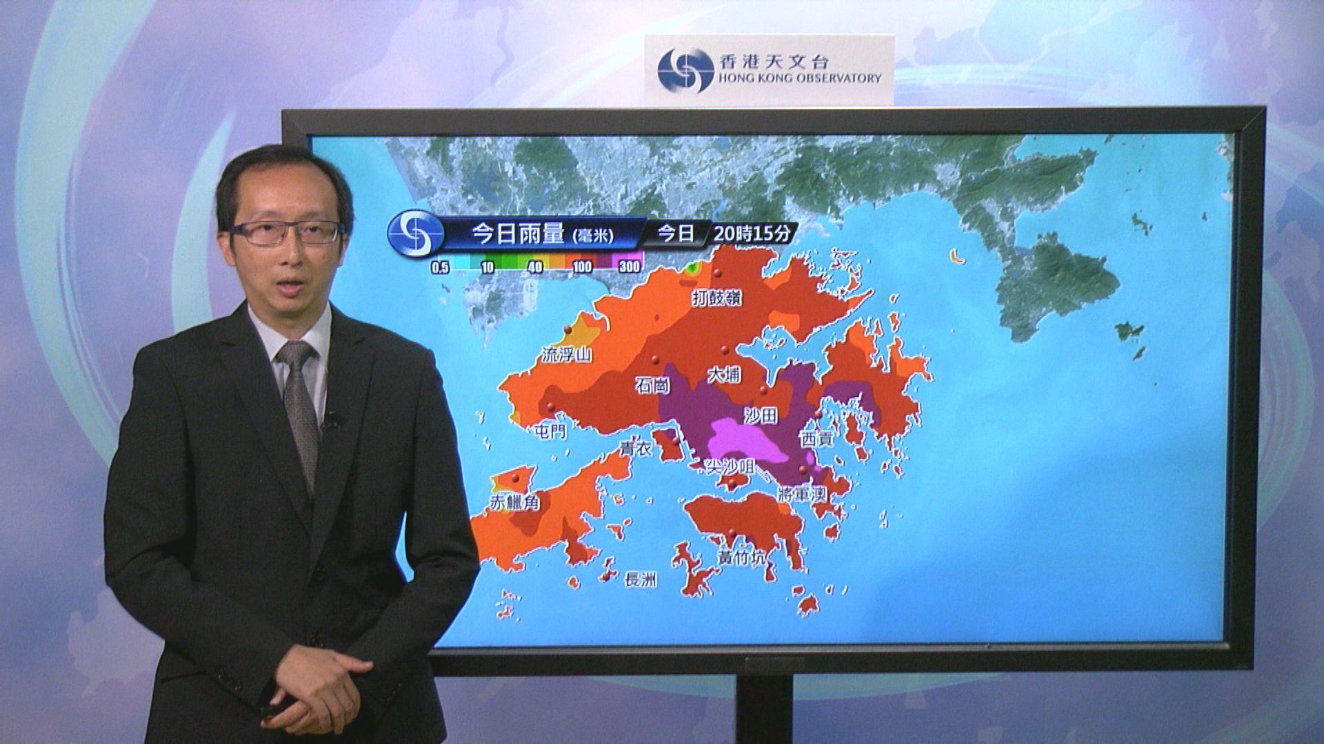 【韋帕襲港】八號信號預計在未來兩三小時維持
