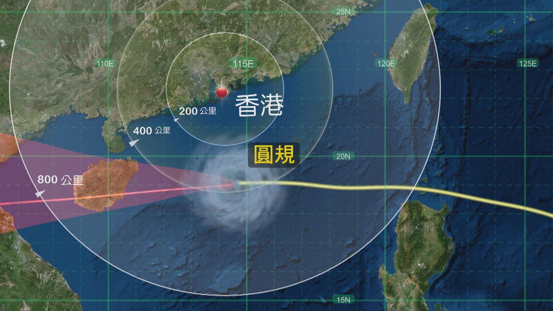 八號熱帶氣旋警告料維持至日出前