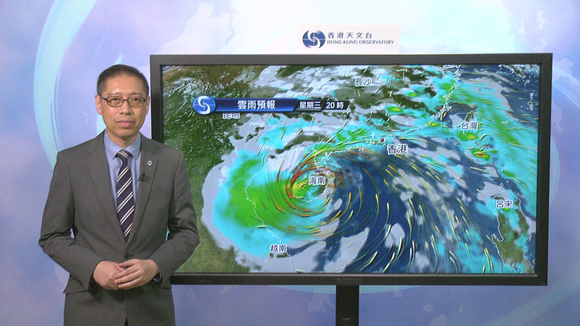 圓規已增強為颱風 八號信號會在中午前維持