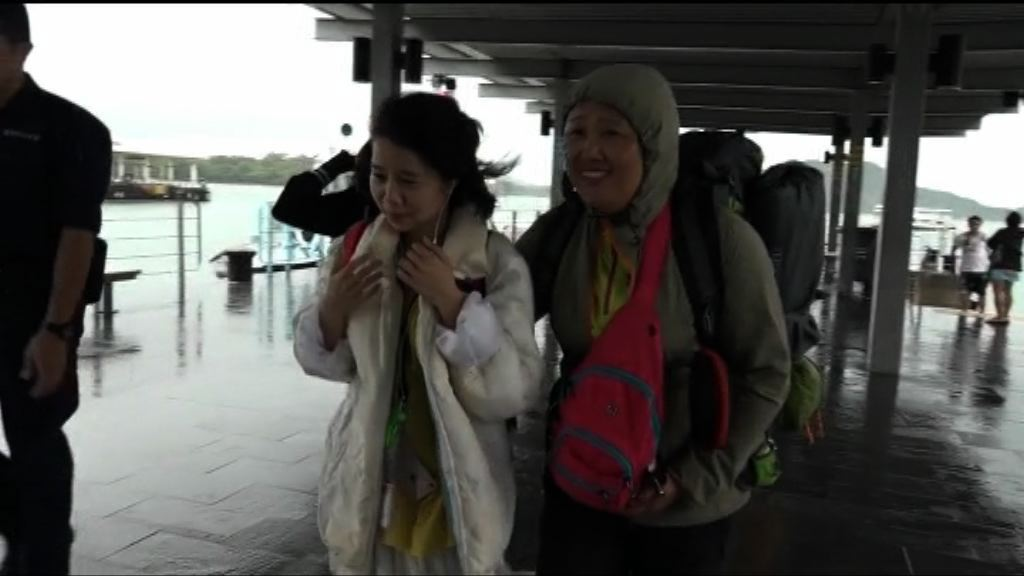多名內地露營客被困橋咀島報警求助