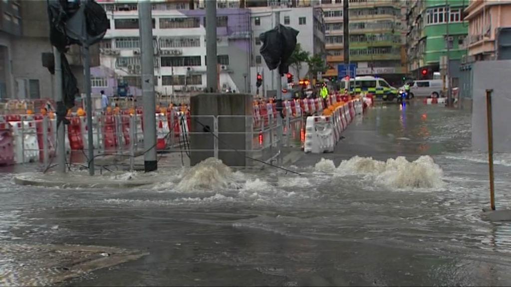 艾雲尼帶來狂風驟雨 有路面水浸