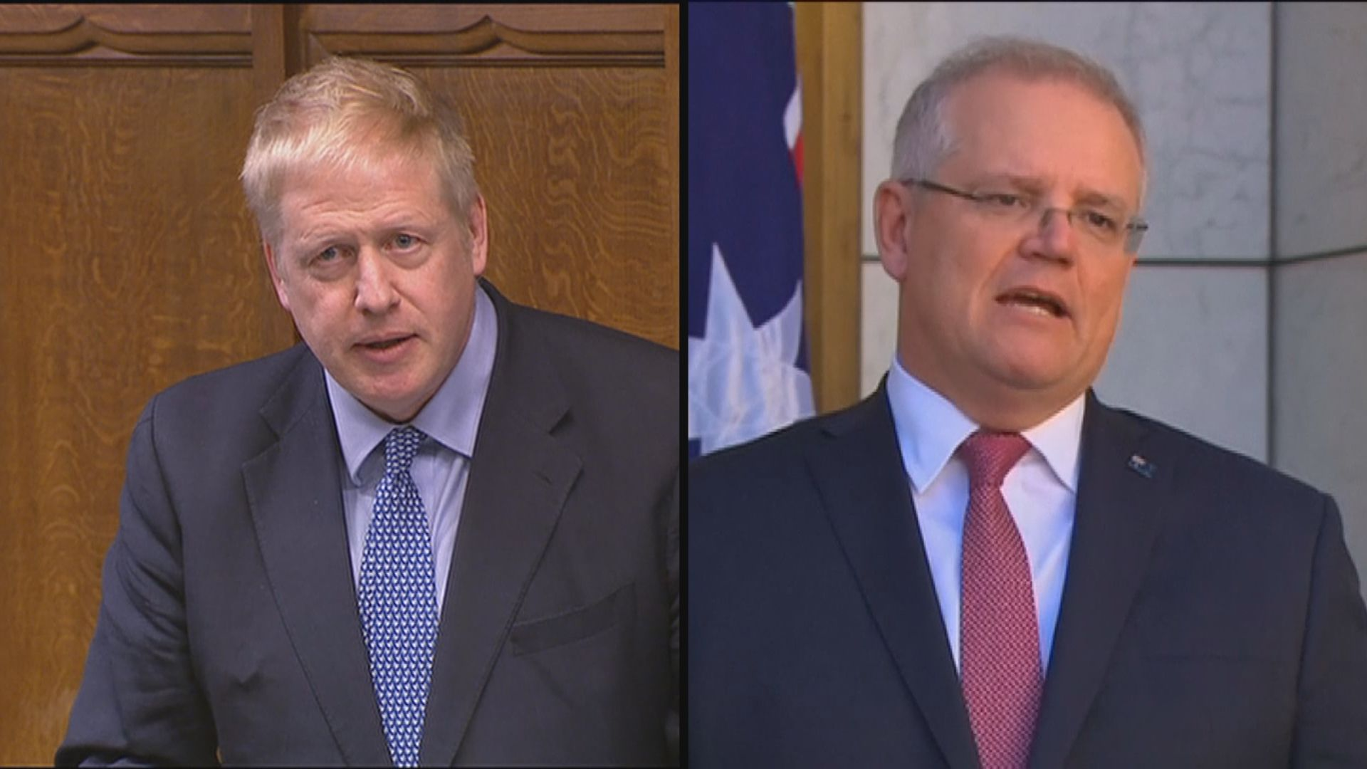 英澳領袖討論港區國安法