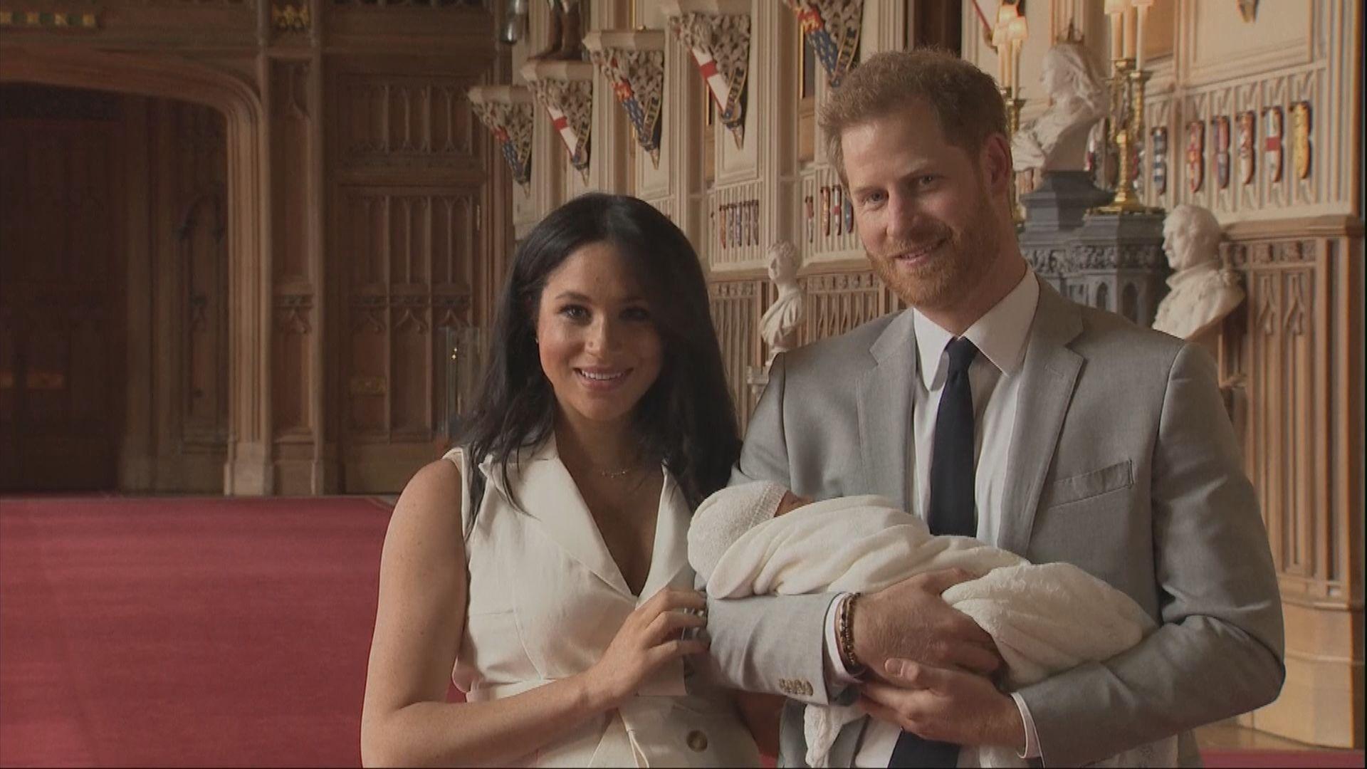 哈里王子夫婦與兒子首度露面