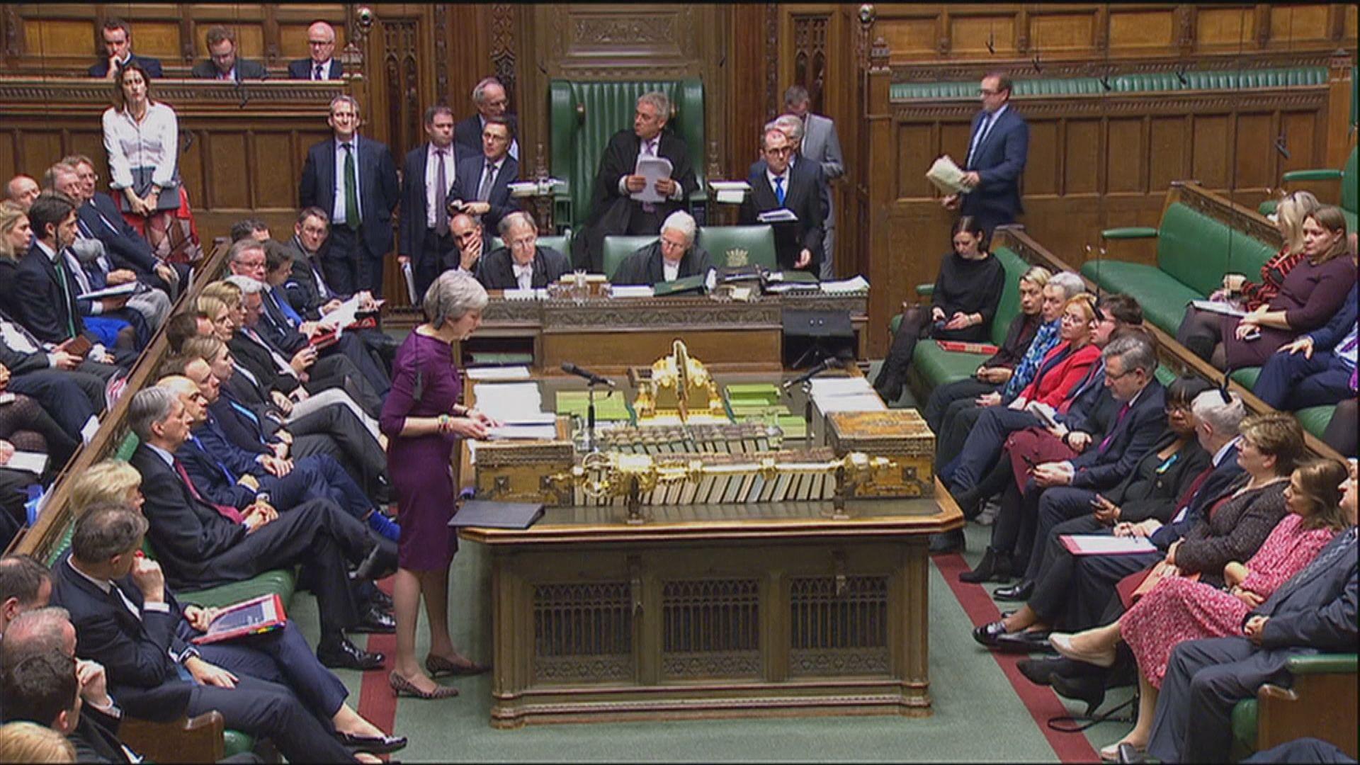 英國國會今日開始辯論脫歐協議