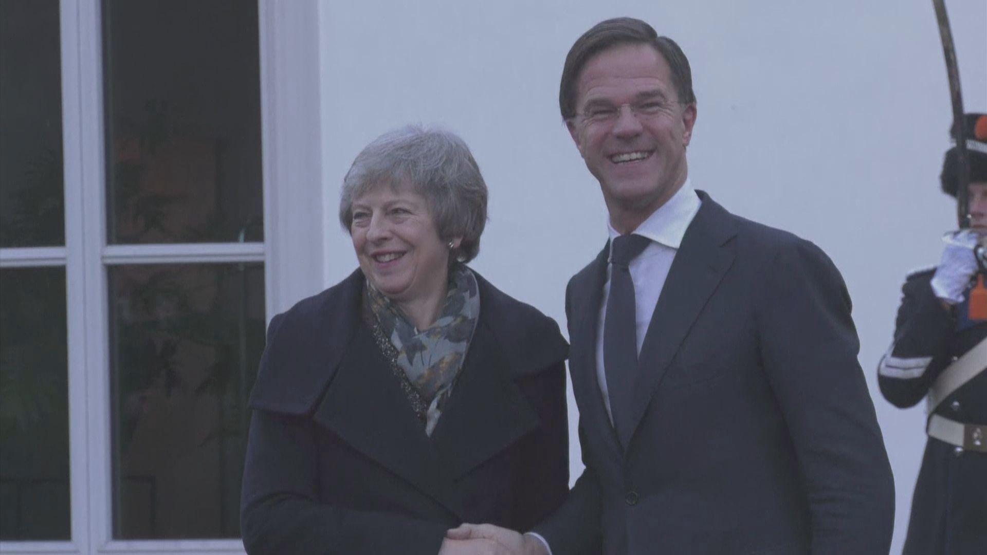 文翠珊晤荷蘭首相呂特商脫歐協議