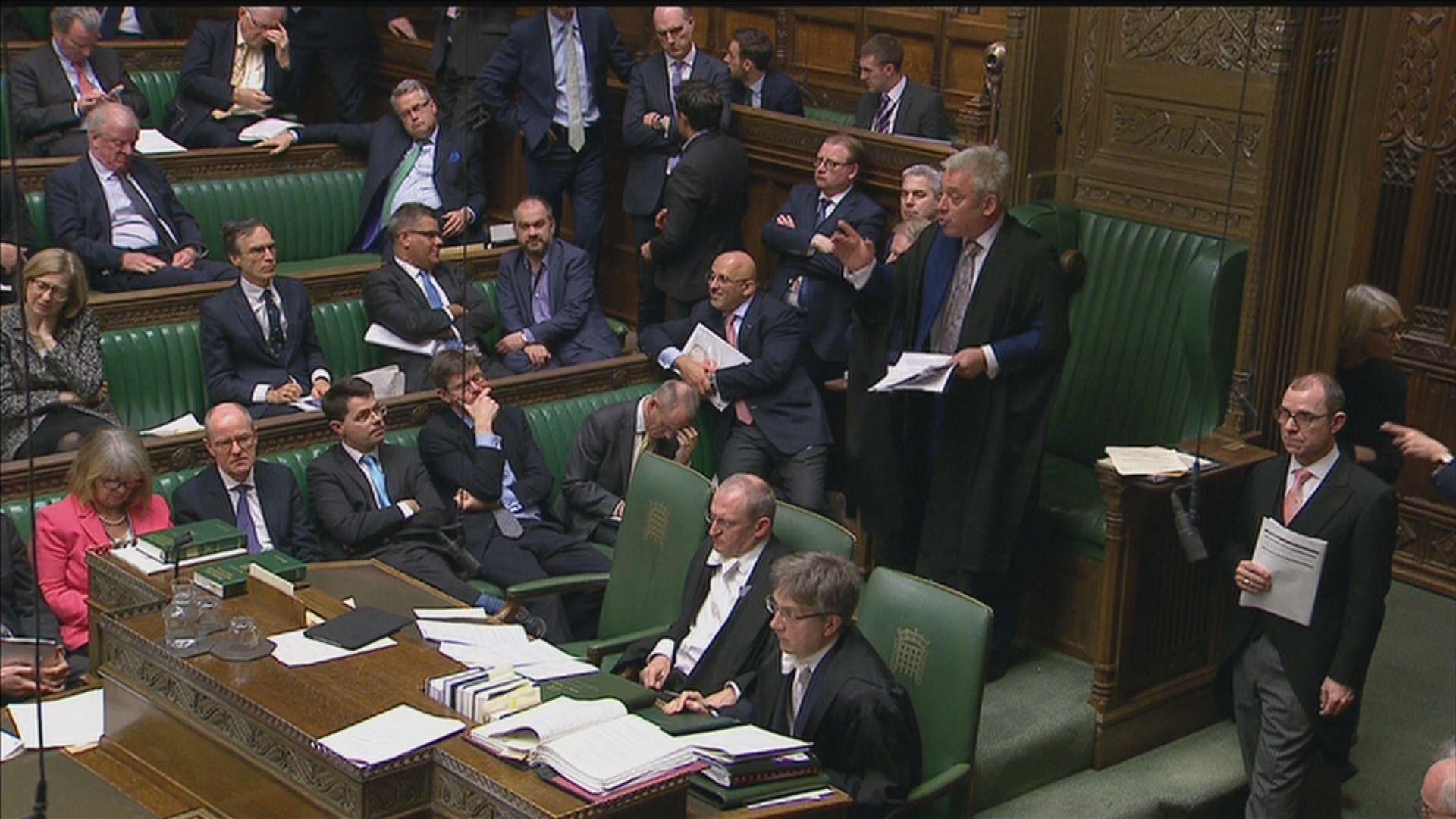 英國下議院准政府再提交脫歐協議表決