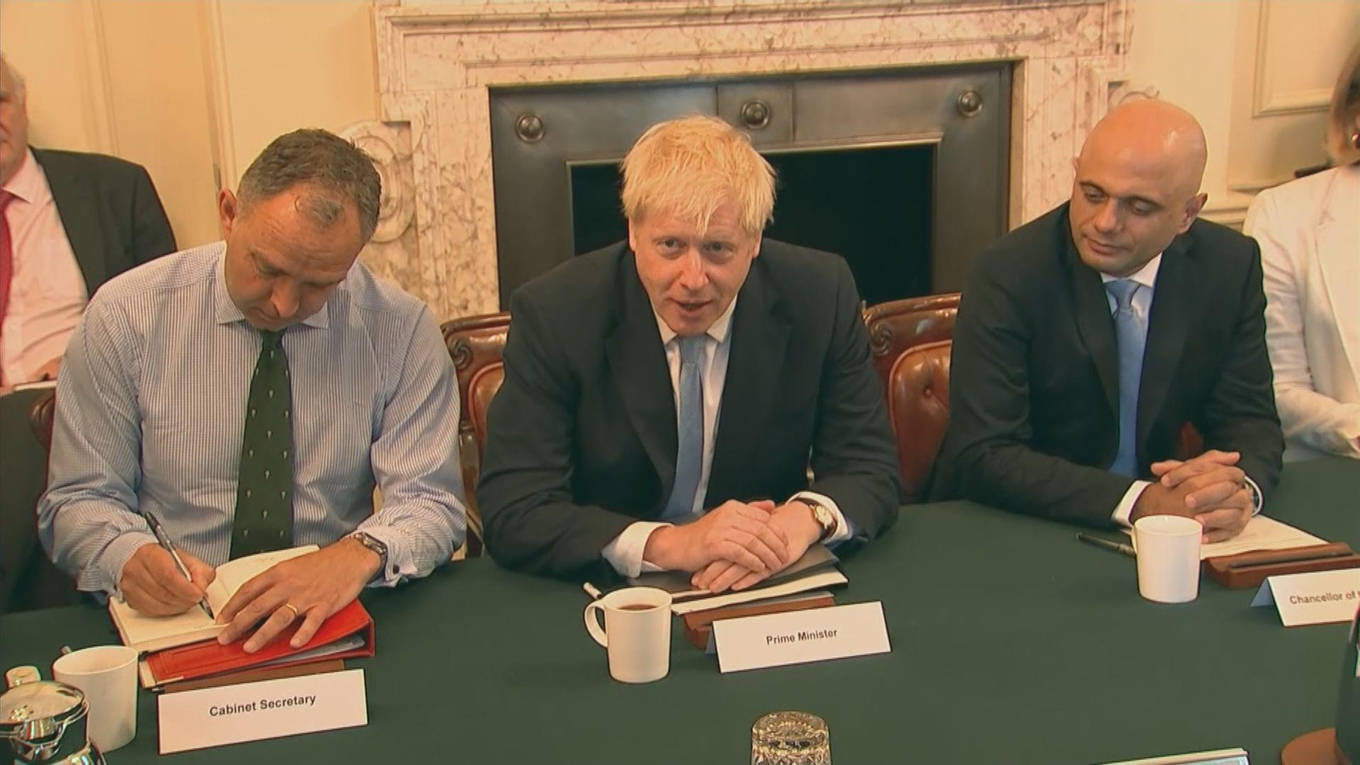 約翰遜召開首次內閣會議 重申如期落實脫歐