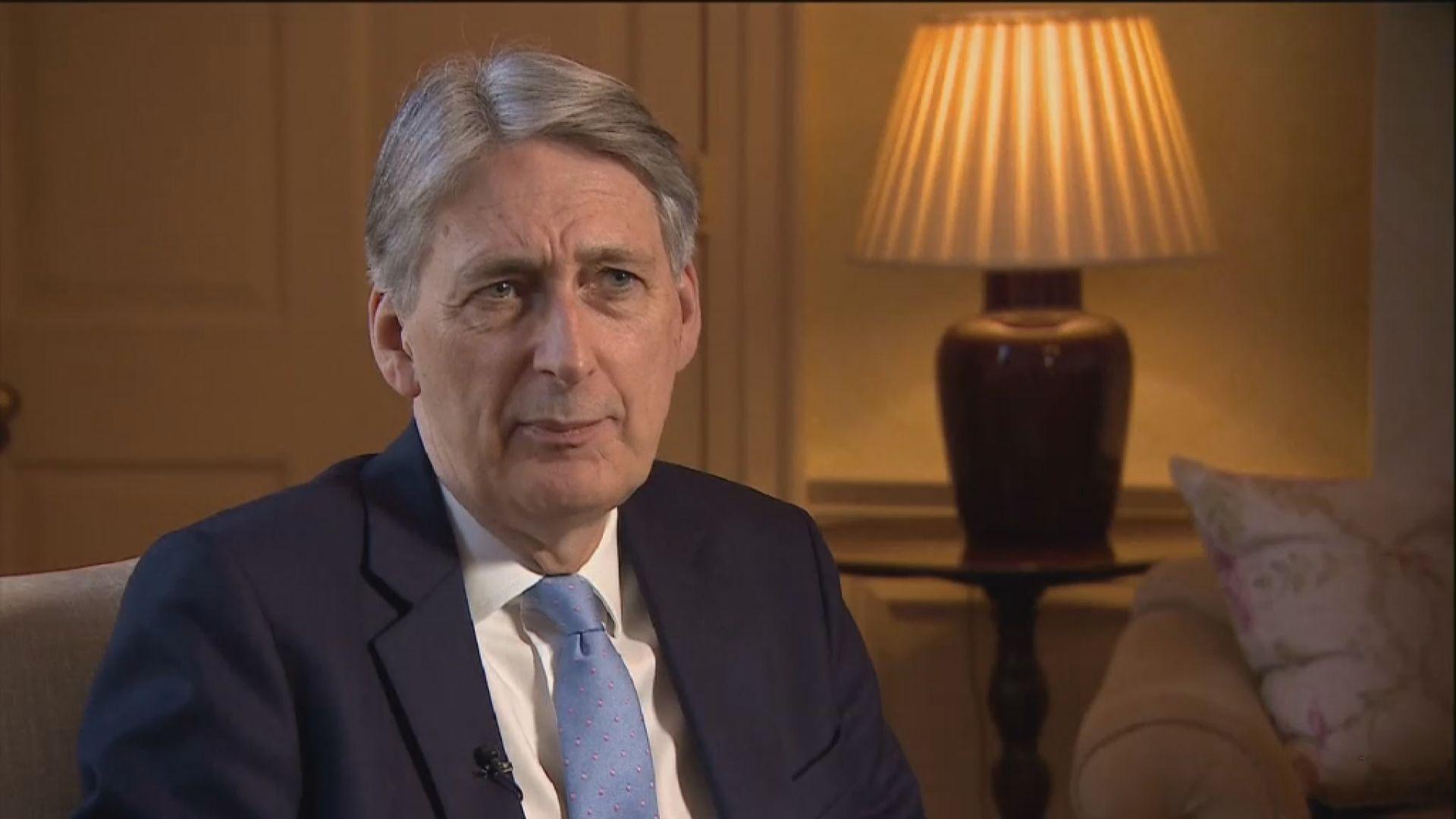 英媒:英國財相夏文達取消訪華行程