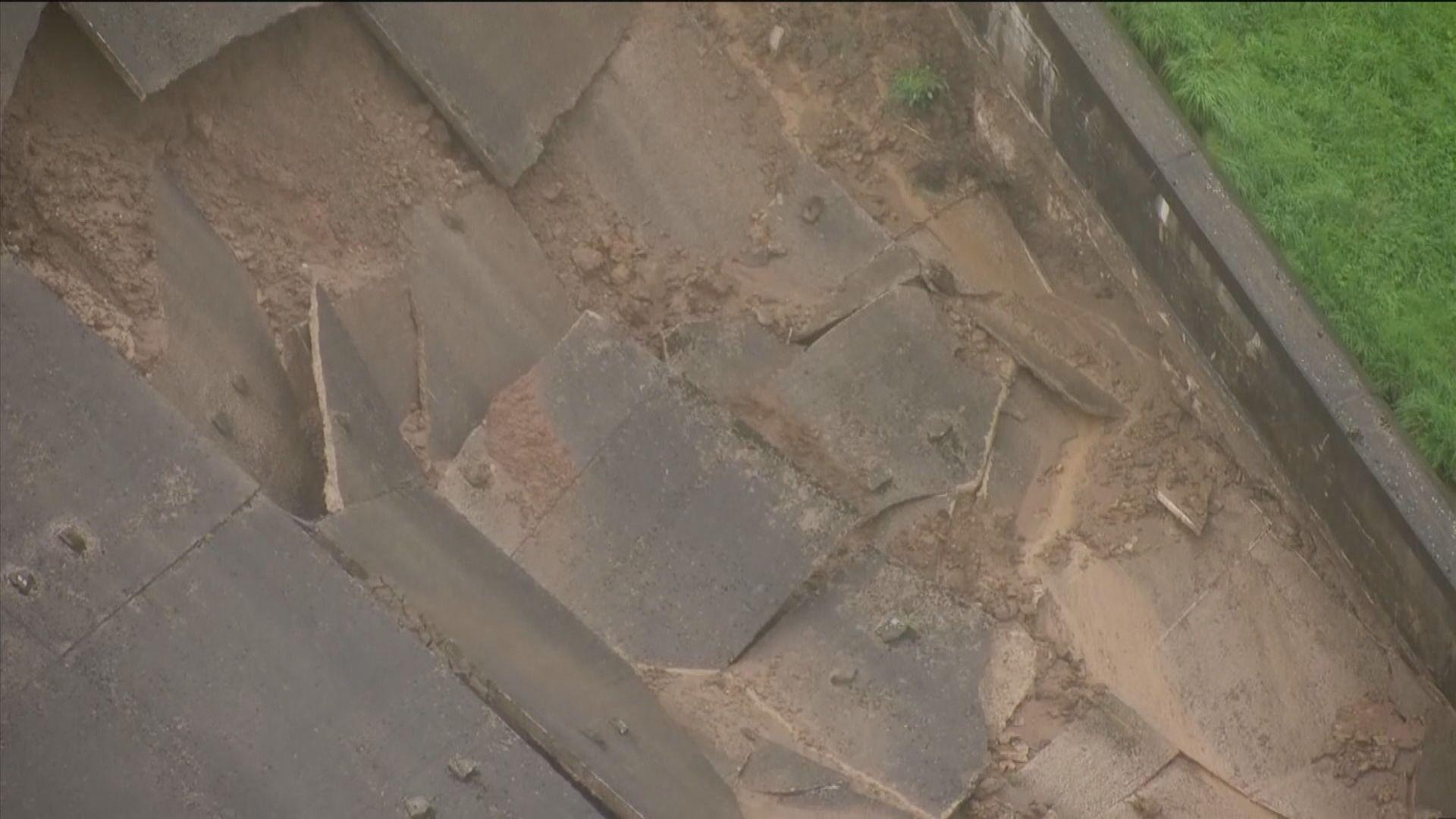 英德比郡水壩部分塌陷 數千居民疏散
