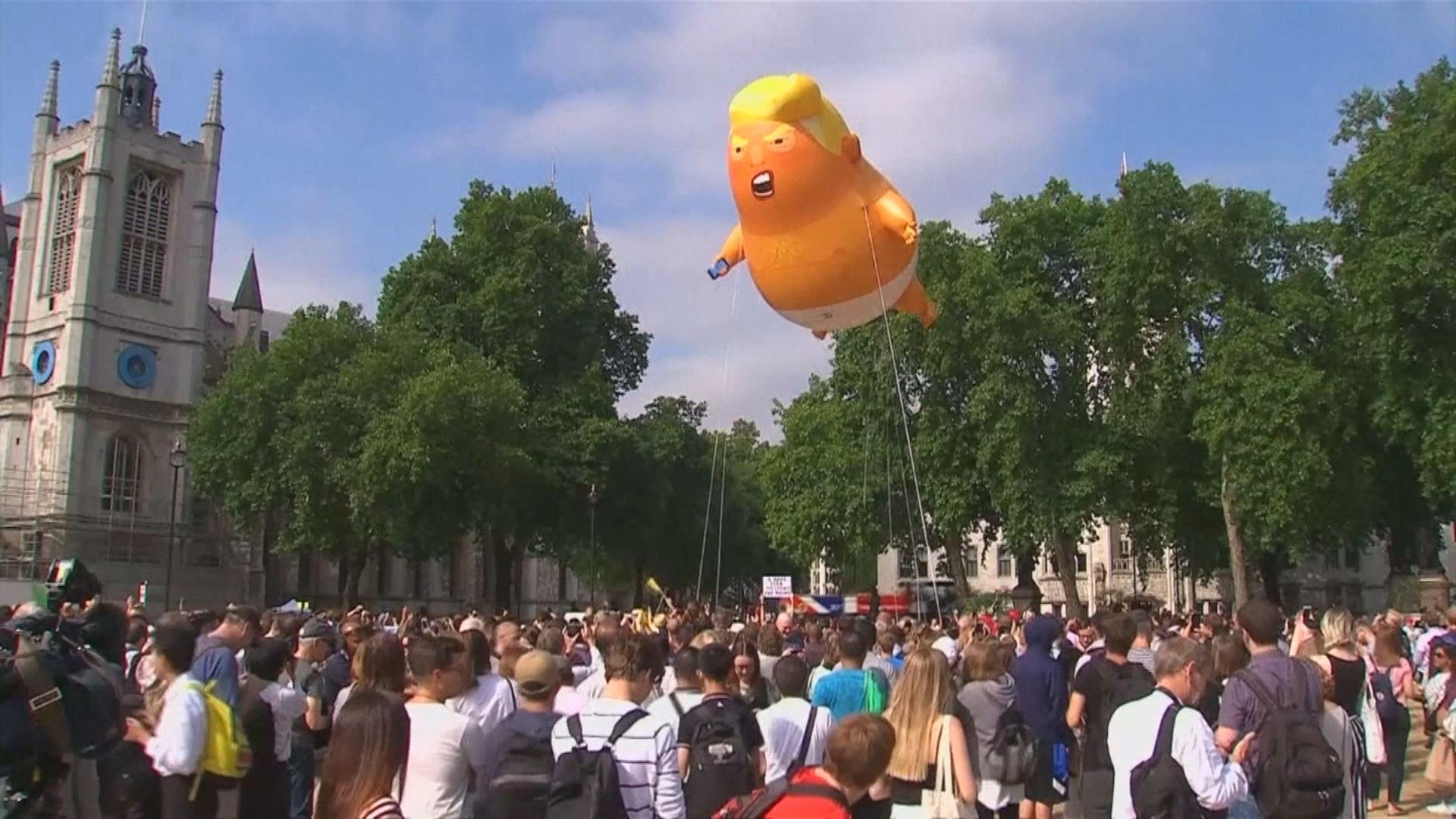 英國多地料有示威抗議特朗普到訪