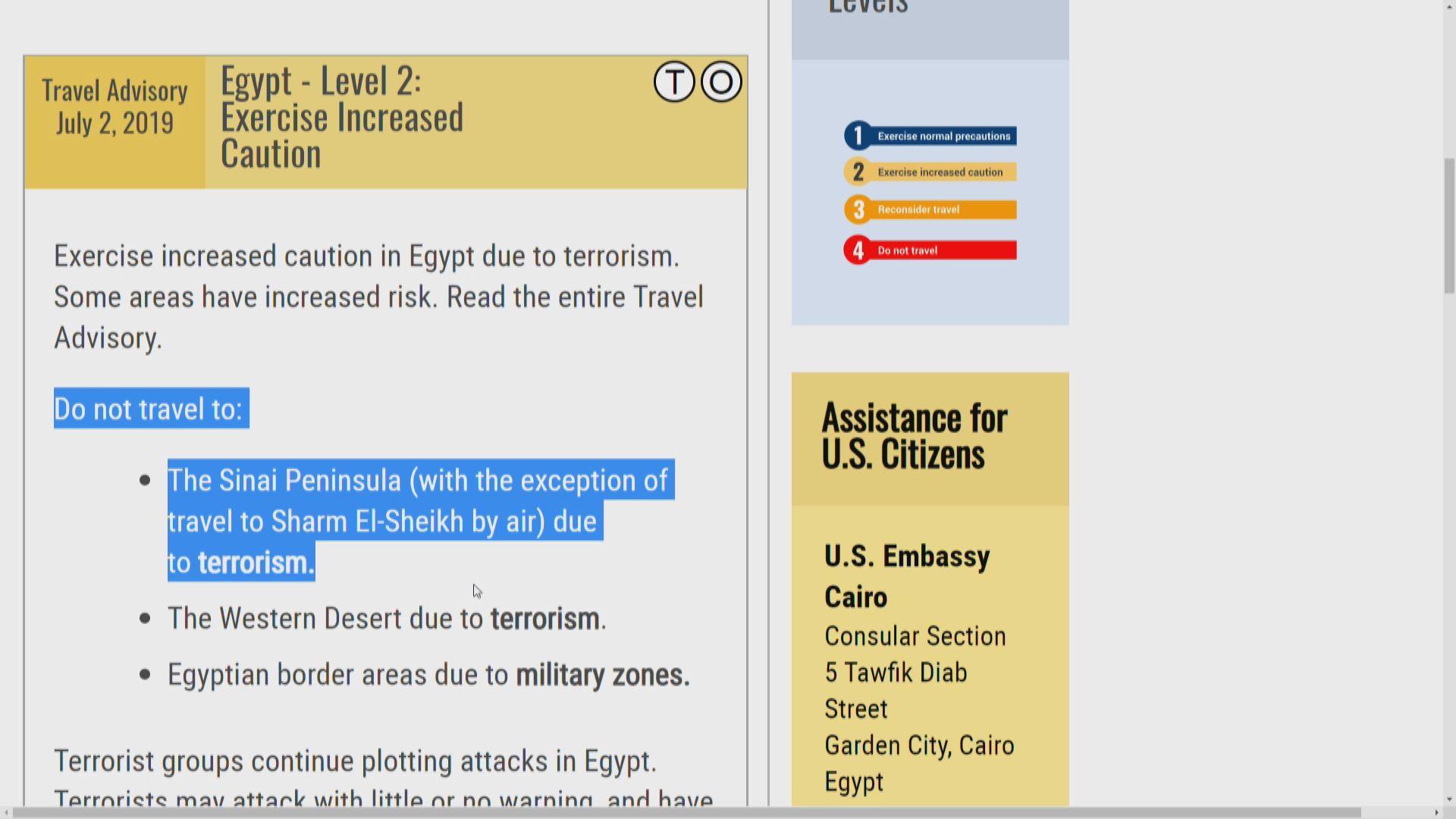 英航及漢莎以保安理由停飛埃及航班