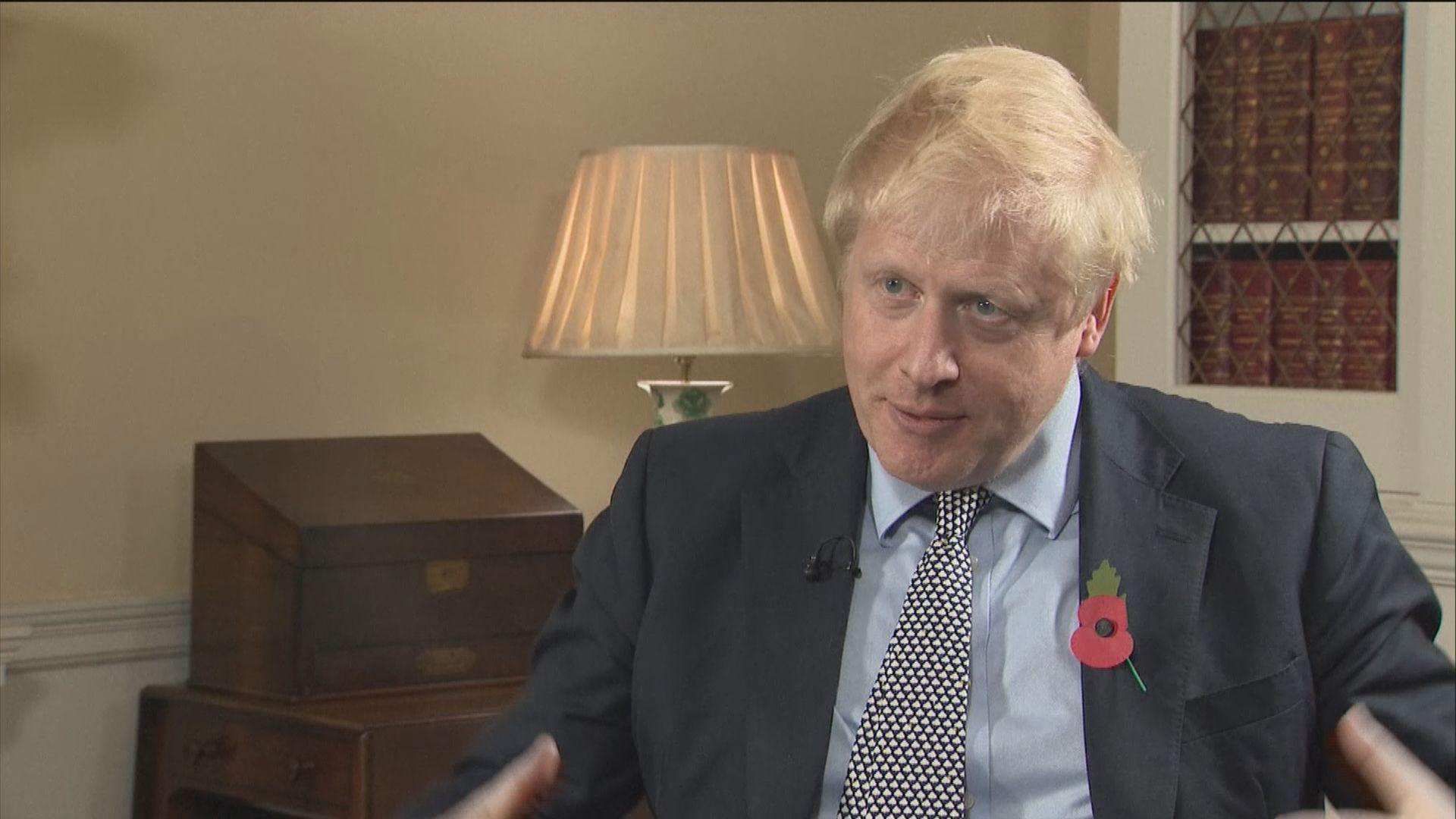 英媒:約翰遜在選綱摒棄無協議脫歐