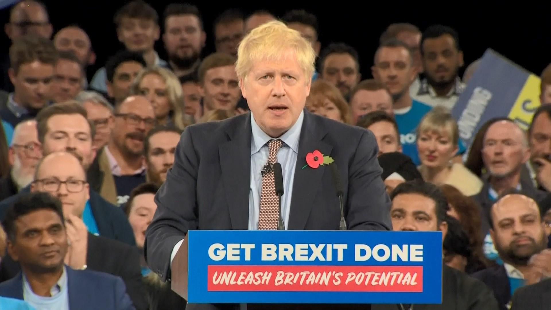 保守黨展開拉票 約翰遜承諾一月脫歐