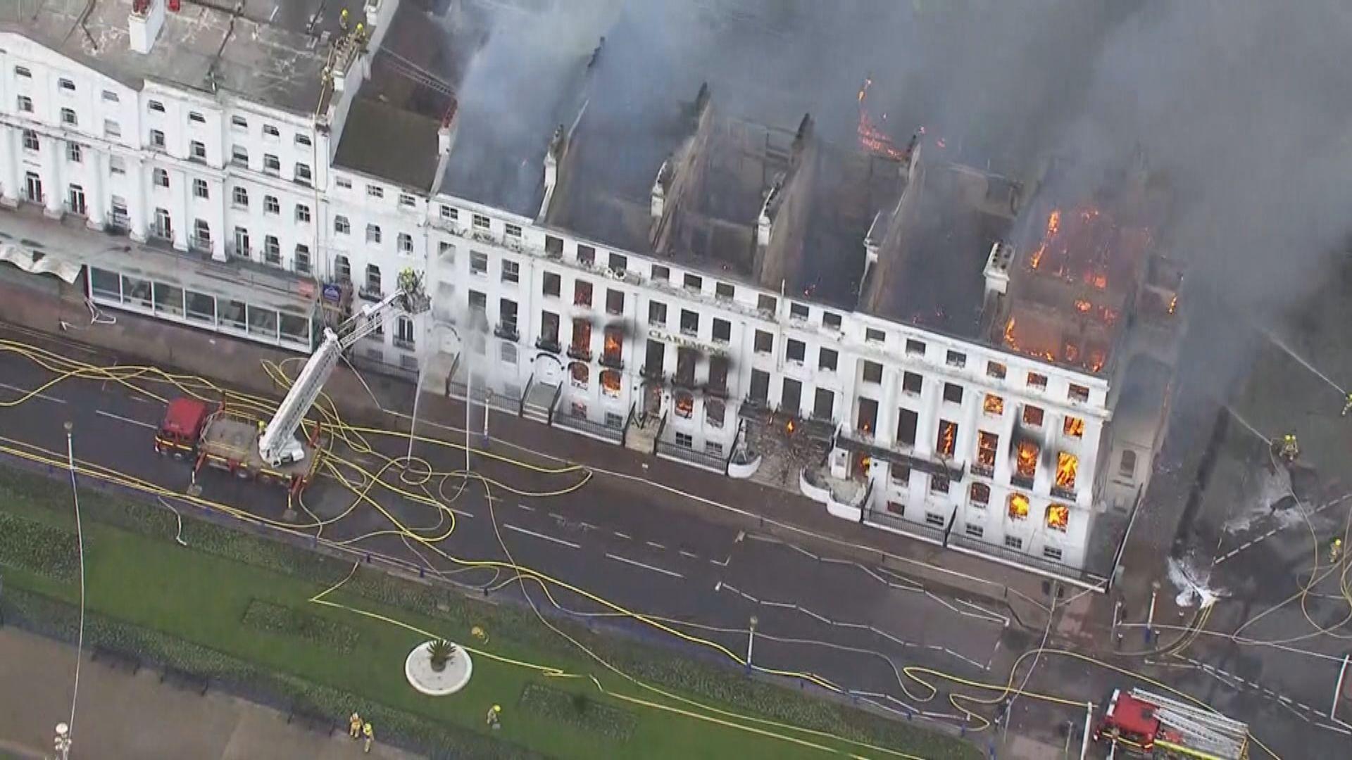 英國東南部逾百年歷史酒店大火