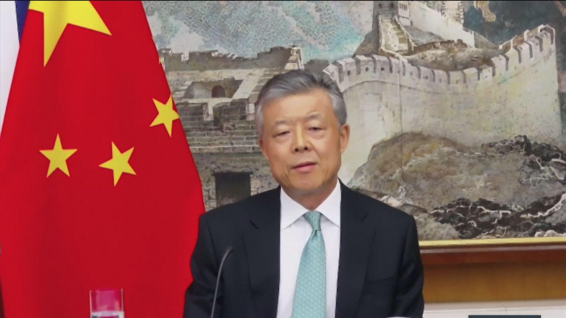 中國駐英大使:制訂港區國安法非企圖壓制香港社運人士
