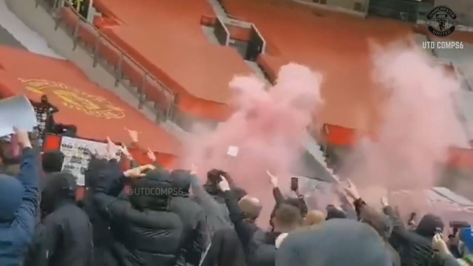 曼聯球迷闖入奧脫福球場示威 「雙紅會」要改期