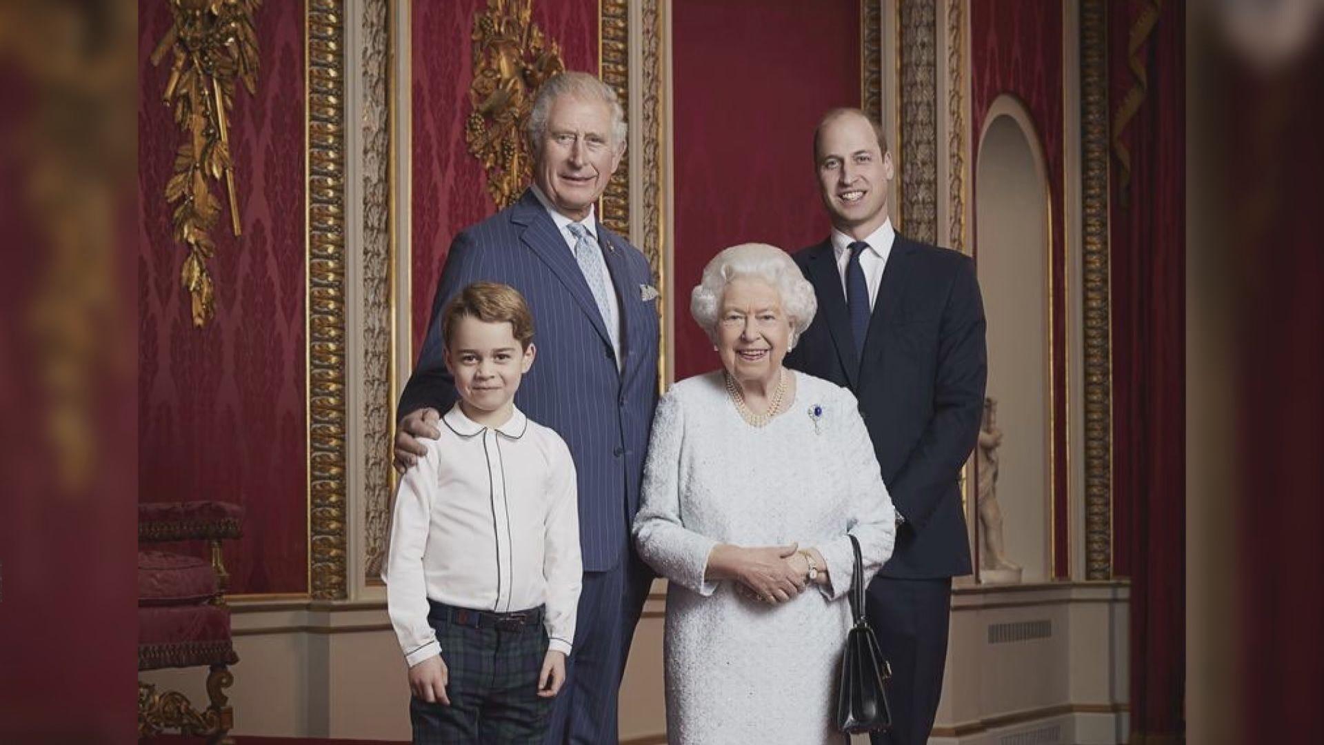 英國王室發布四代同場肖像照