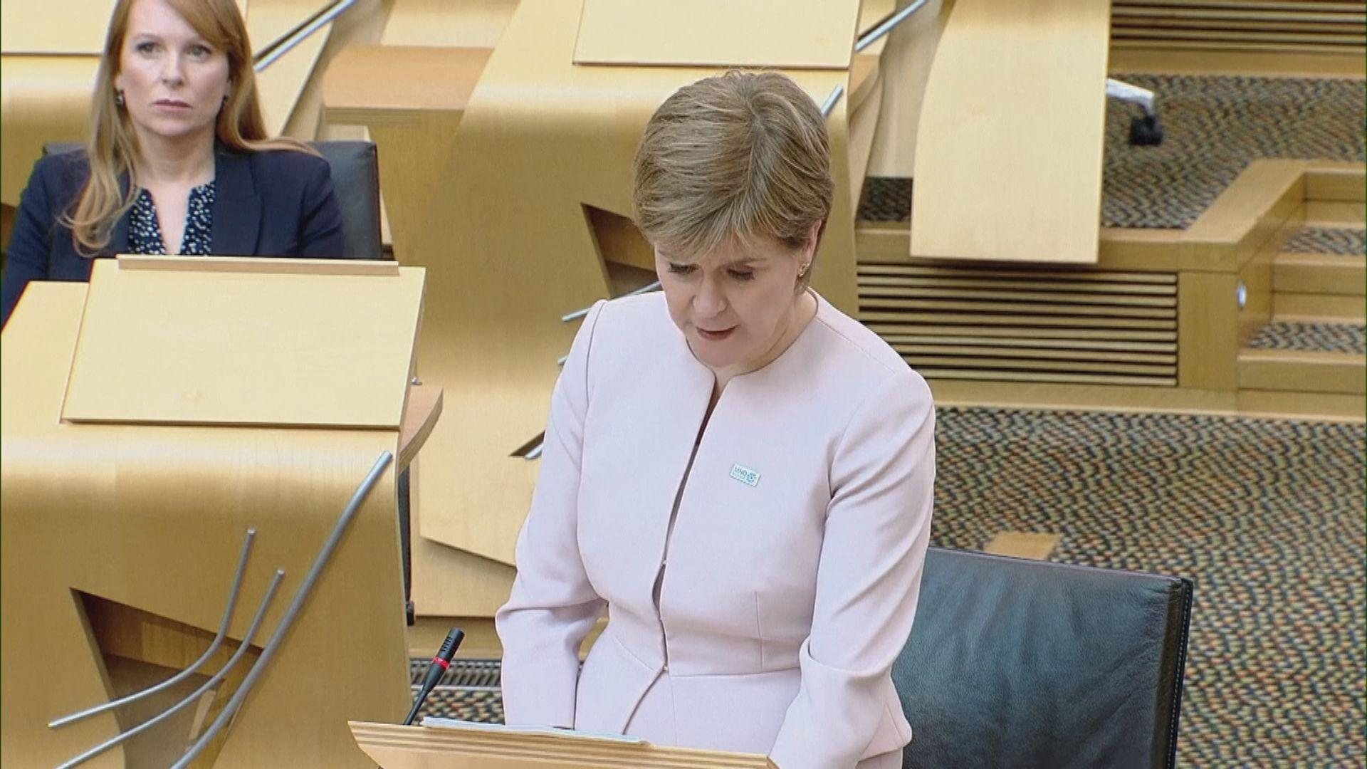 施雅晴指已啟動蘇格蘭再舉行獨立公投籌備工作