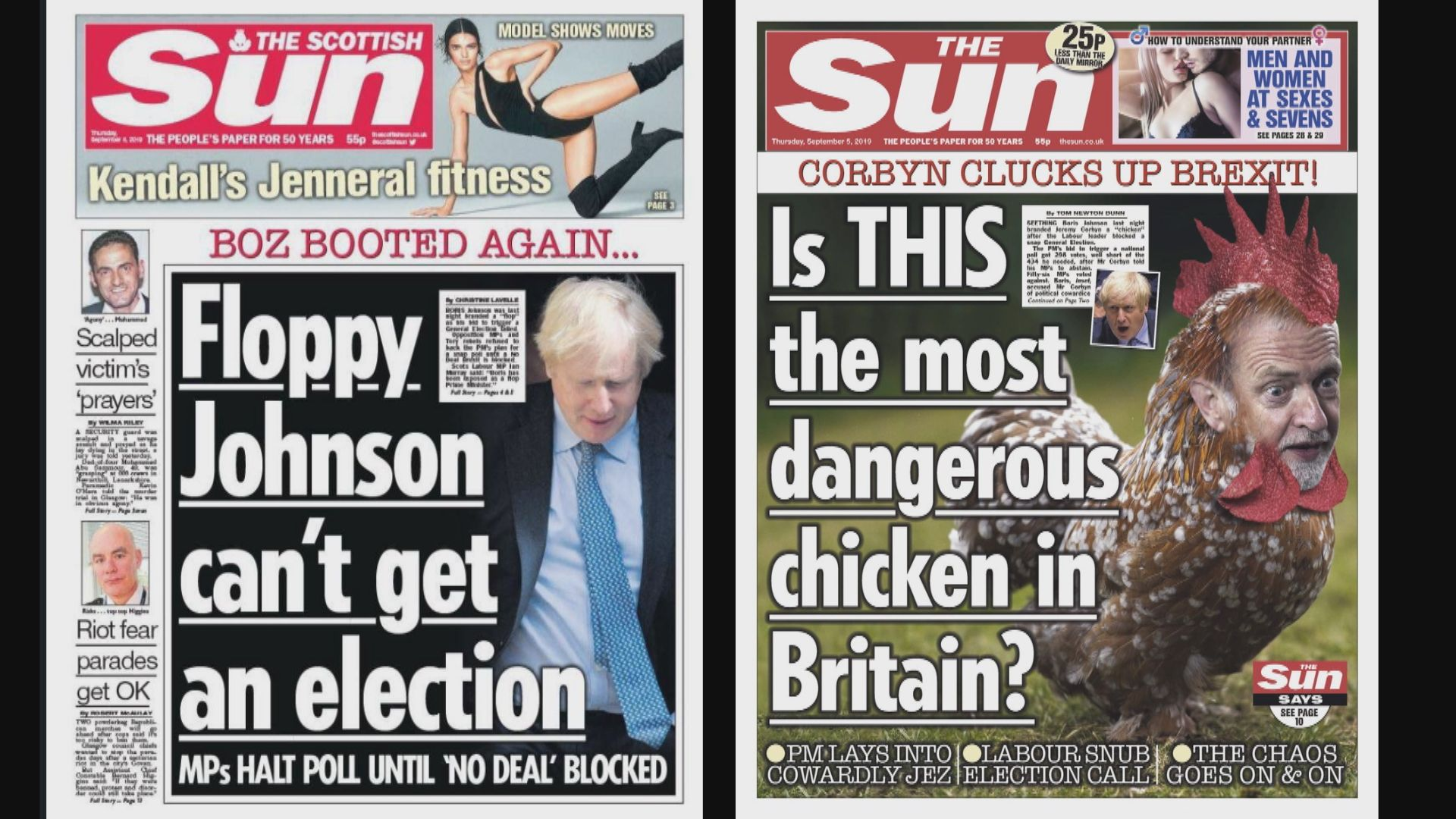不同地區《太陽報》脫歐議題上不同語調