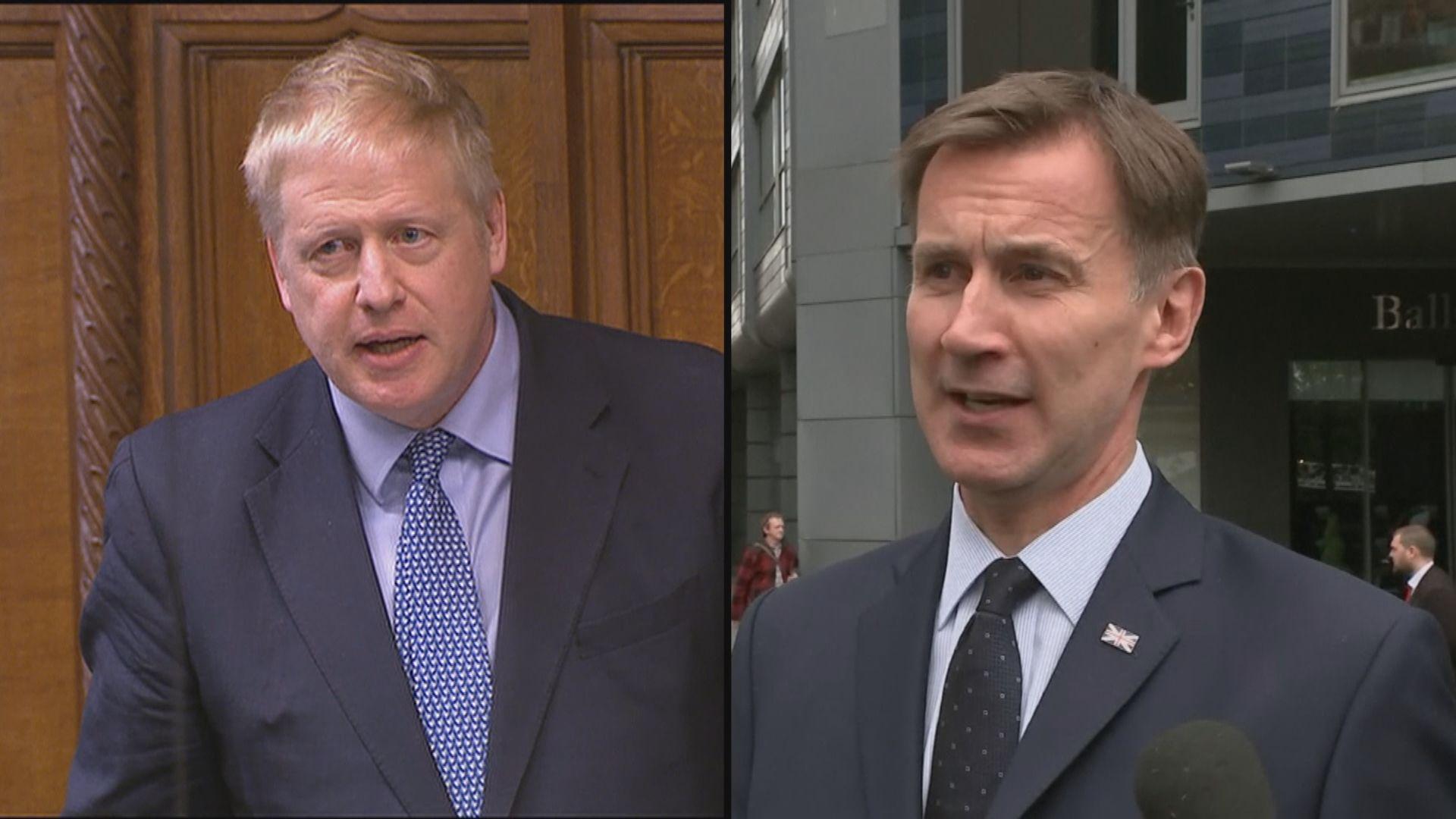英國保守黨黨魁選戰 約翰遜支持度拋離侯俊偉