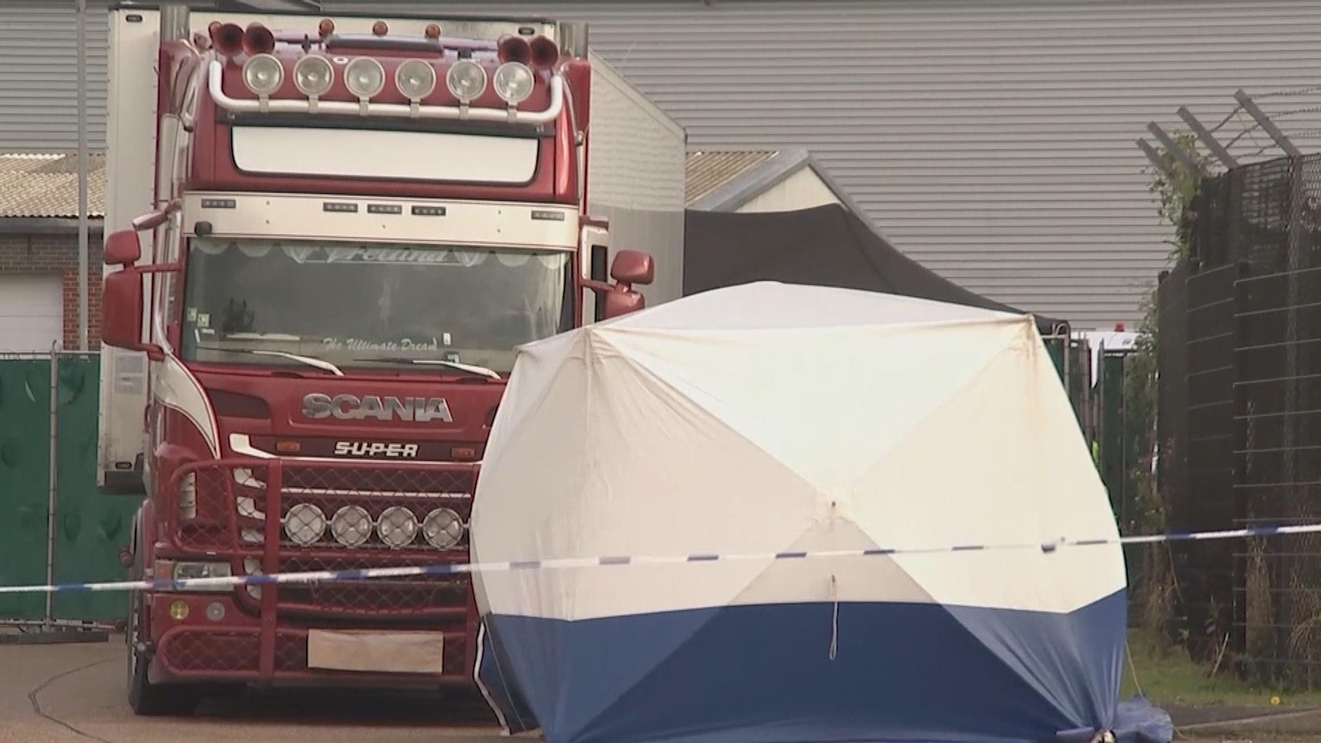 英國警方證實貨櫃車案39名死者全是越南人
