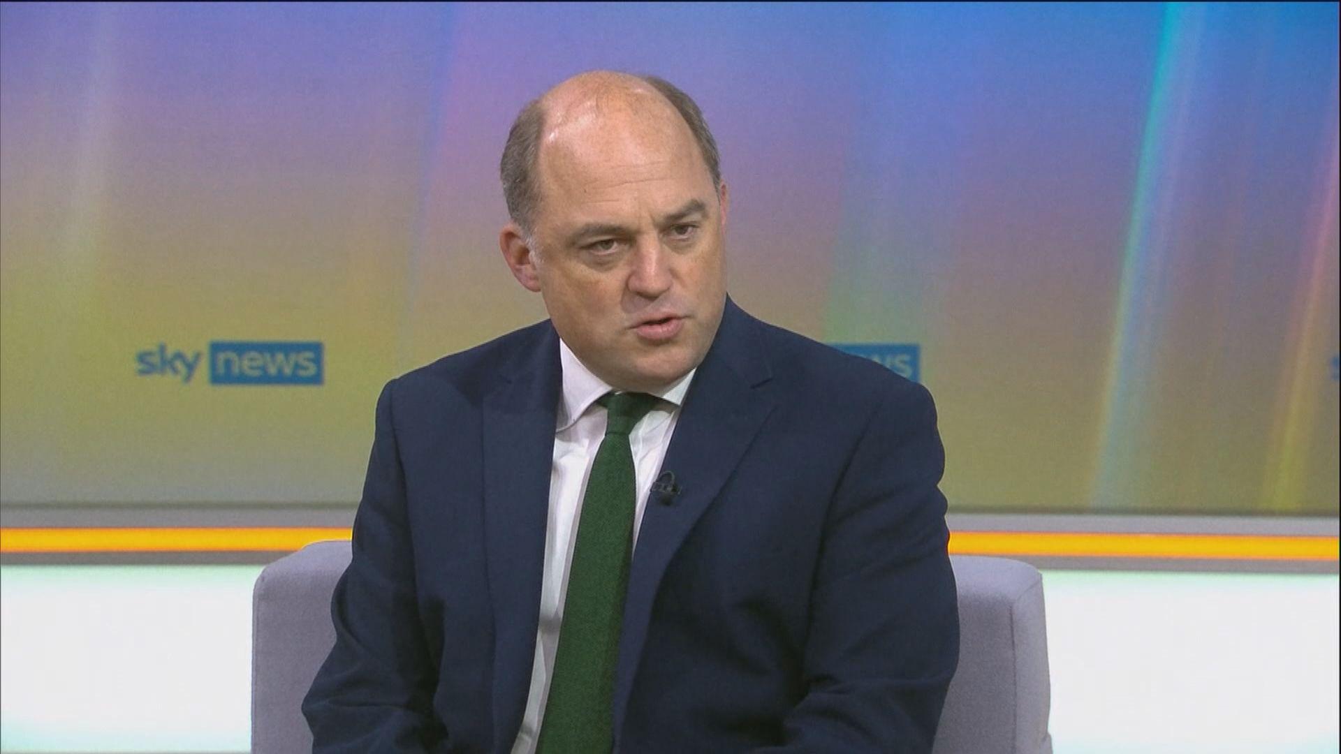 英國防大臣促北京以和平方式解決台灣問題
