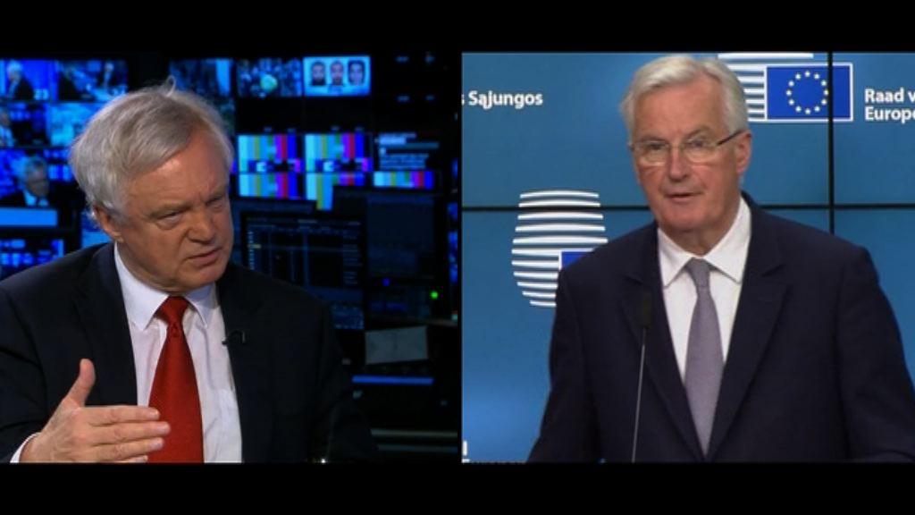 英國與歐盟周一正式展開脫歐談判