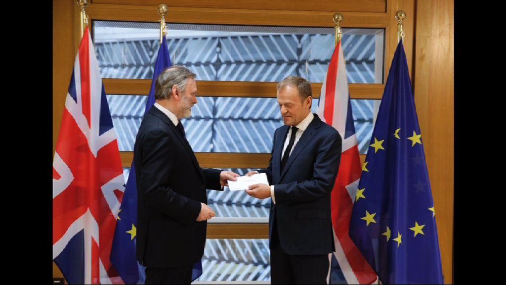 英國正式啟動脫離歐盟程序