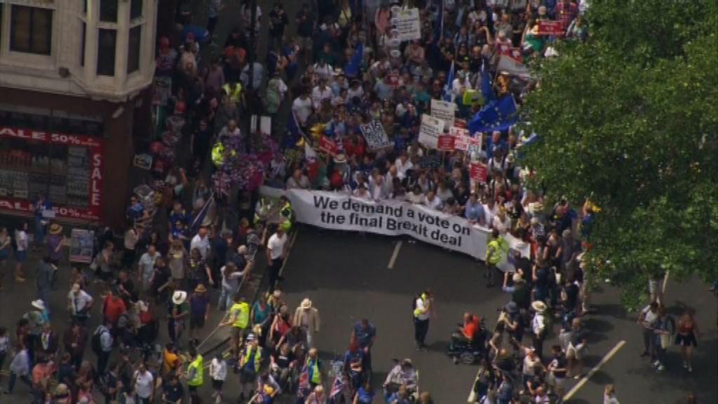 倫敦民眾遊行反對英國脫歐