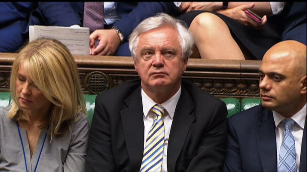 戴德偉對內閣軟脫歐立場不滿辭職