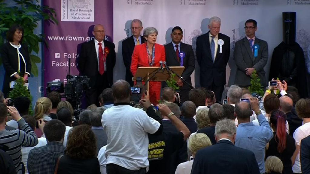 英國大選 文翠珊尋求女王批准組新政府