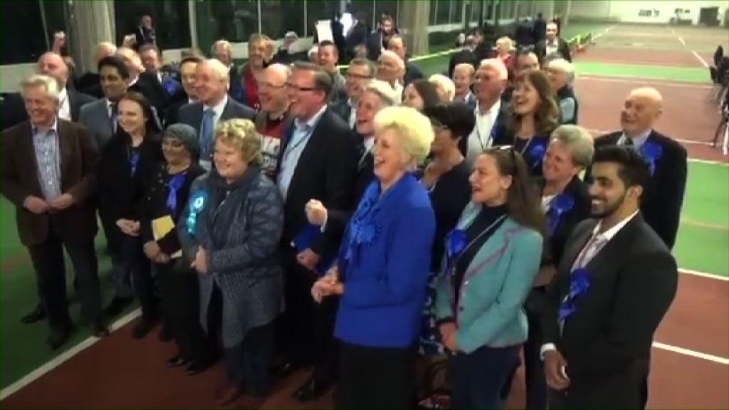 強硬處理脫歐獲支持 保守黨增逾三百議席