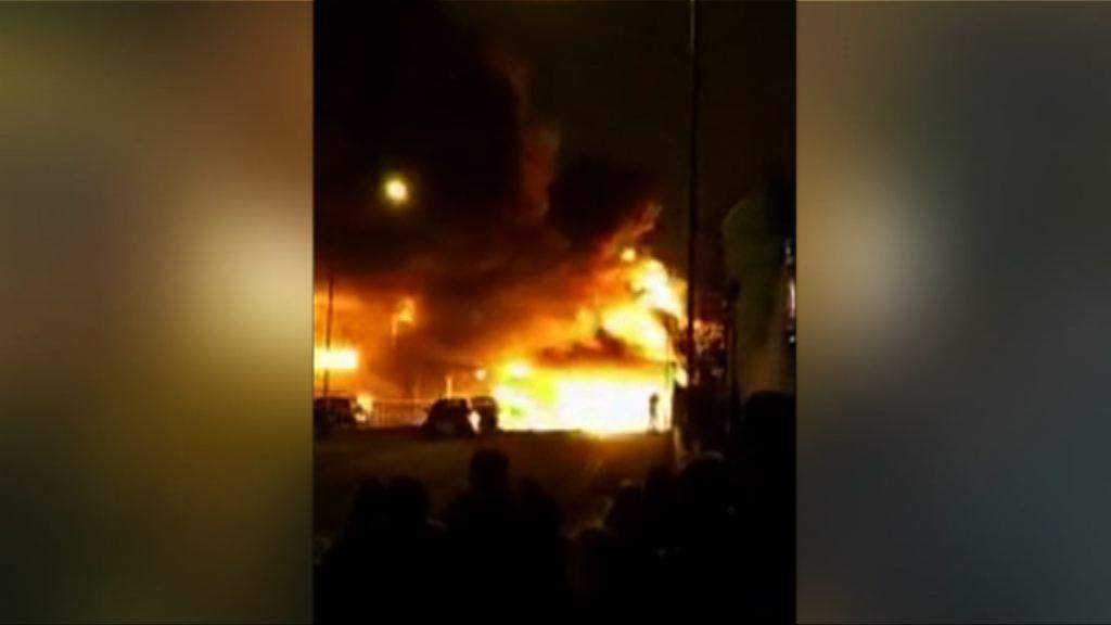倫敦北部油漆廠失火 無人傷