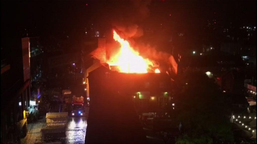 英國倫敦北部卡姆登市集大火未知原因