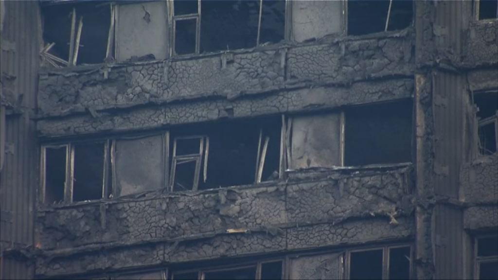 倫敦住宅大廈大火 夏文達指大廈外牆物料已被禁用