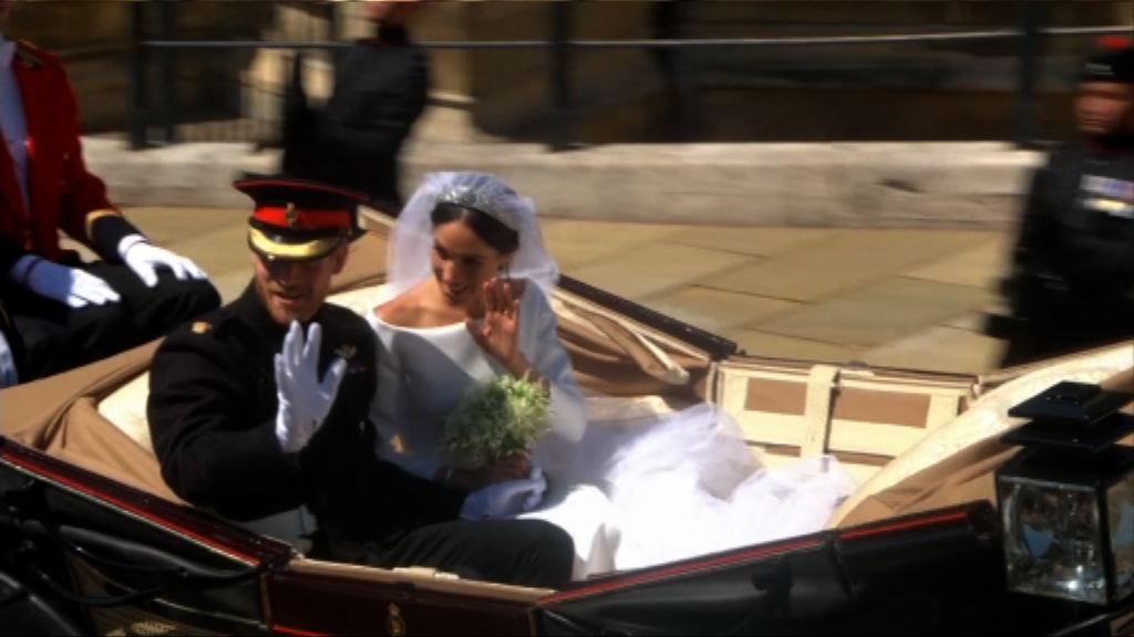哈里夫婦乘馬車於溫莎巿巡遊