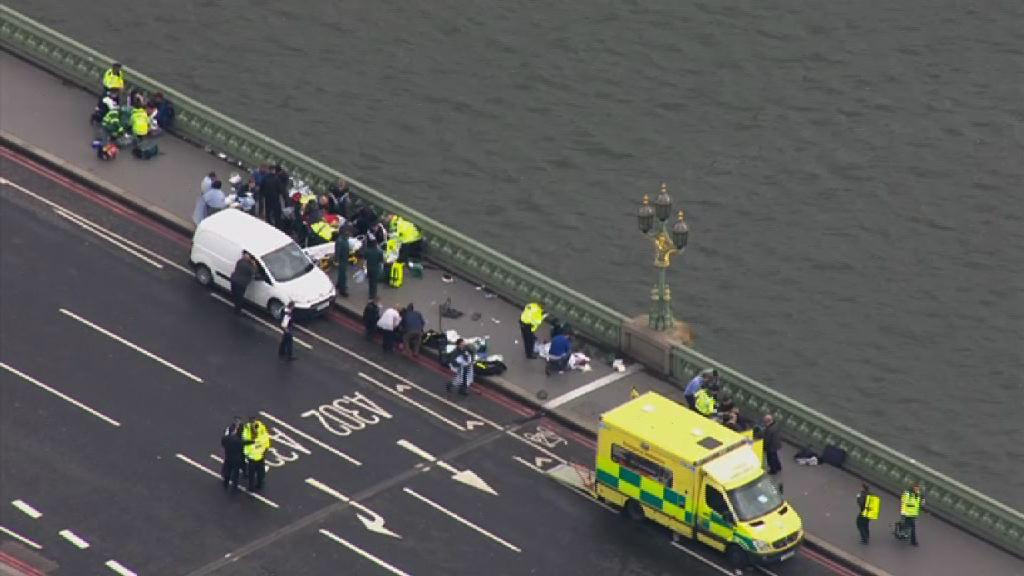 英國國會外恐襲 疑犯刺死警員後遭擊斃